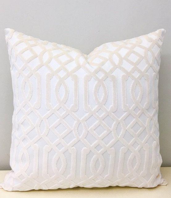 Luxury Cream Velvet Pillow Cover 992513a8a1f5