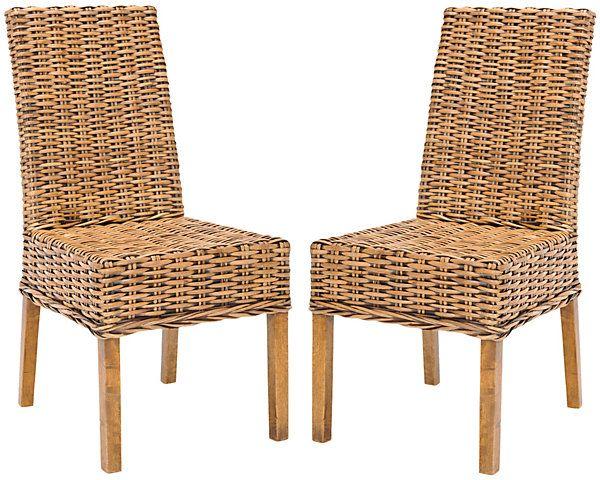One Kings Lane   Furniture Bazaar   Almond Dayton Side Chairs, Pair