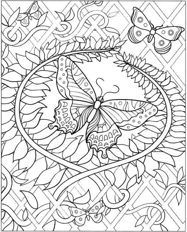 Очень сложные и красивые раскраски | Раскраски с животными ...