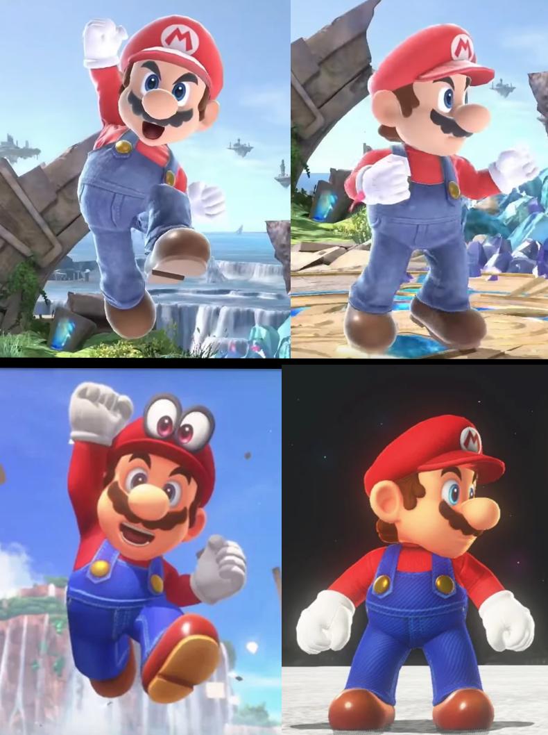 Mario in Smash Bros Ultimate vs Mario Odyssey | Video Games | Super