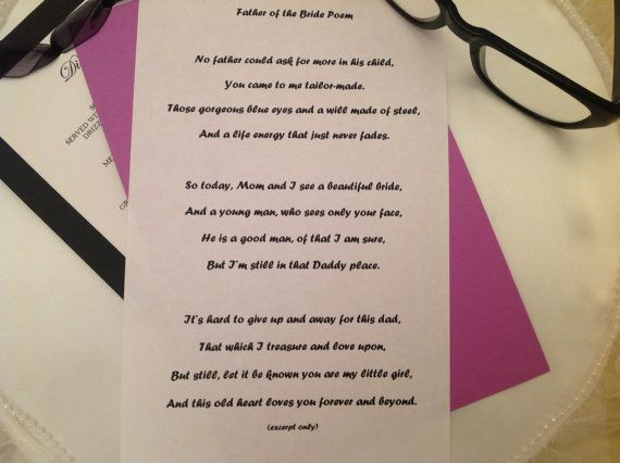 Father Of The Bride Speech, Wedding Speech, Mother Of The
