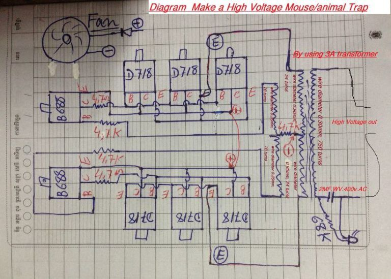 How To Make A Mouse Electric Shock Trap Circuit Diagram High Voltage With High Current Components Gonou In 2020 Circuit Diagram High Voltage Electric Shock