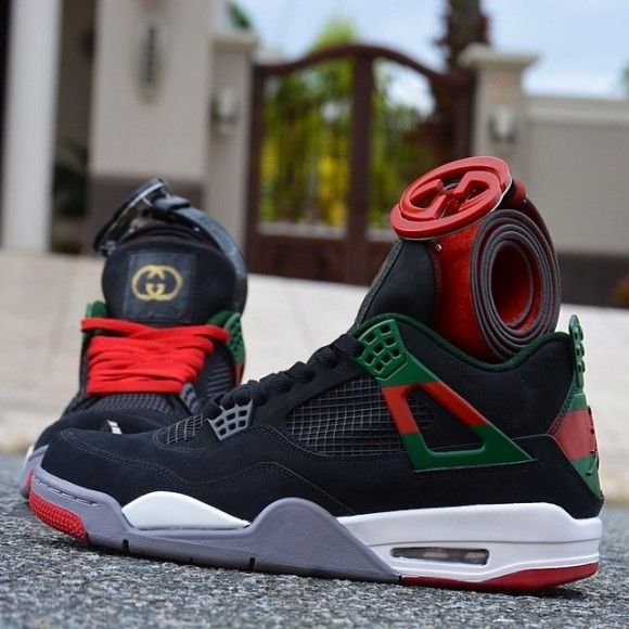 "5f47550f08d6d7 Air Jordan 4 ""Gucci"" Customs by Customs From PR Latest Sneakers"
