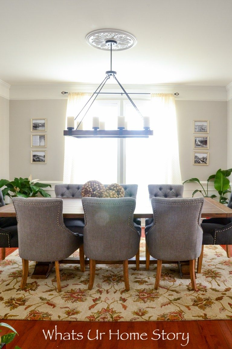 Our New Transitional Dining Room | Large chandeliers, Revere pewter ...