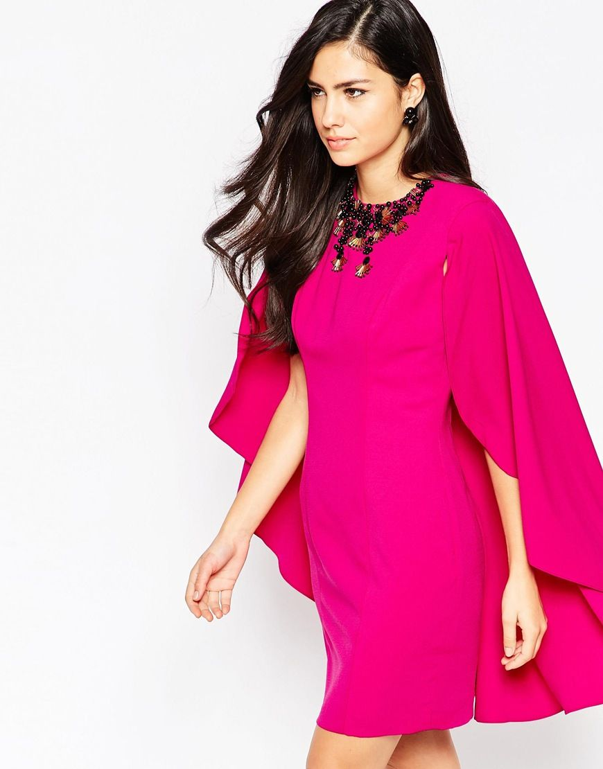 Forever Unique Shola Cape Dress   LOVE but would prefer w/o neck ...