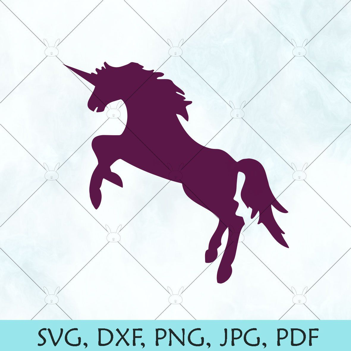 Unicorn SVG / Unicorn outline SVG / Unicorn Silhouette