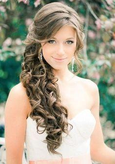 Peinados novia medio lado