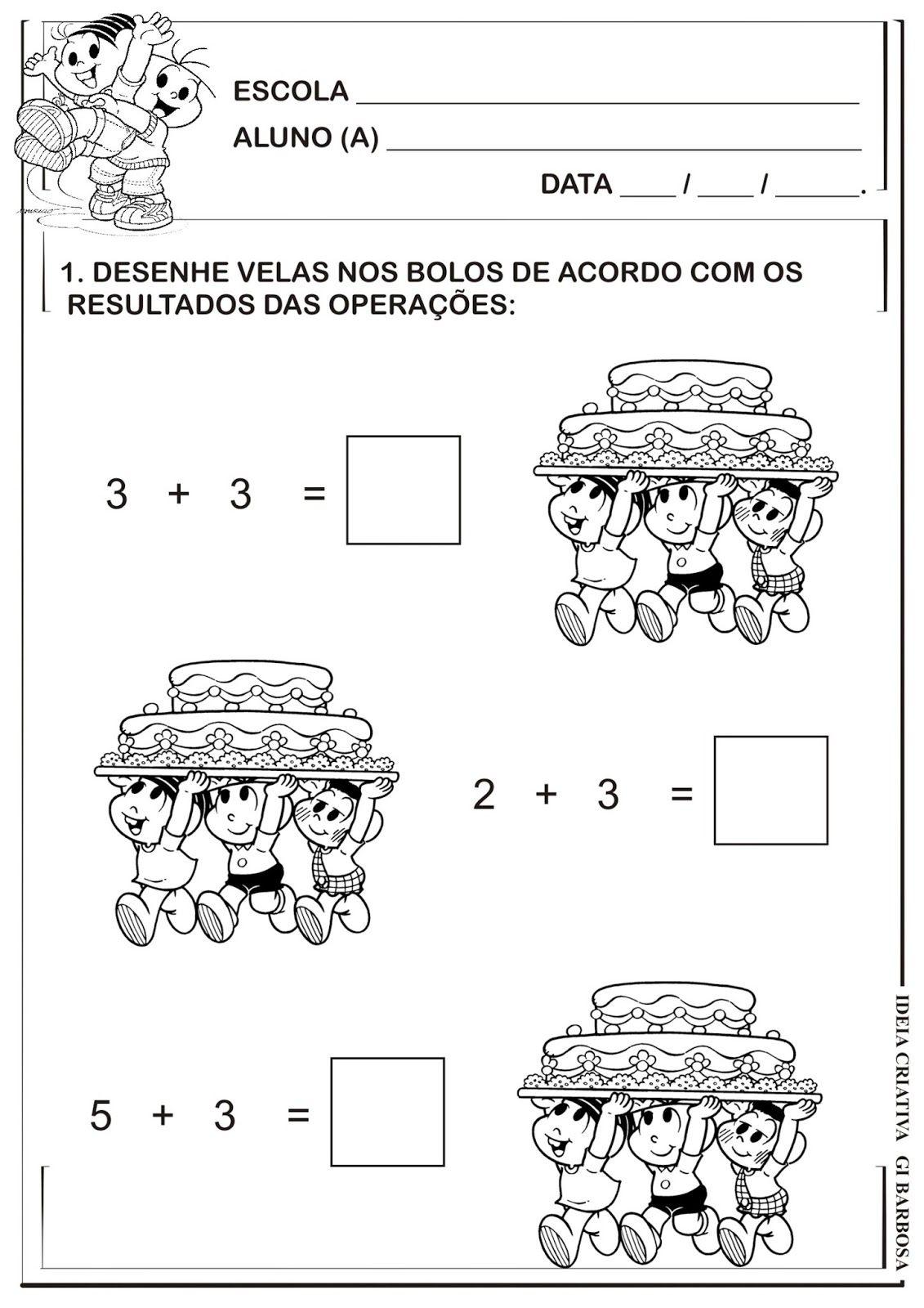 Atividade Matematica Adicao Com Imagens Atividades De