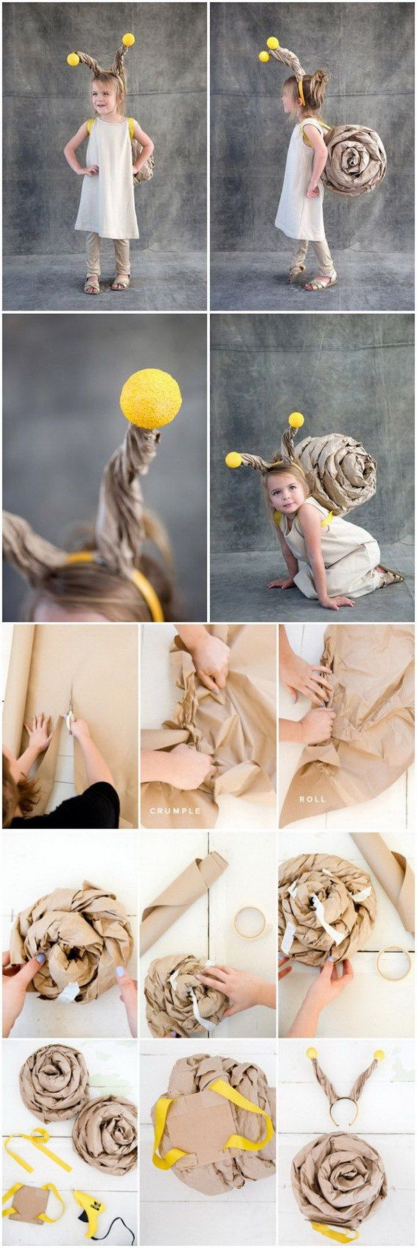 20 creative diy halloween costumes for kids with lots of tutorials diy snail costume for kids more solutioingenieria Image collections