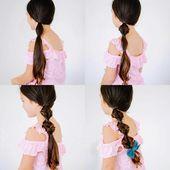 10 + einfache Frisuren für lange Haare, die Sie Schritt für Schritt zu Hause machen können – Hey-Cinderella, # 10easy #diyha …