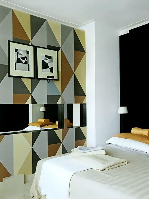 g om trique motifs et impressions peinture murale. Black Bedroom Furniture Sets. Home Design Ideas