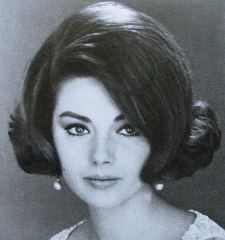 haircut for hair with bangs sylva koscina big vintage hair 1960s 3897