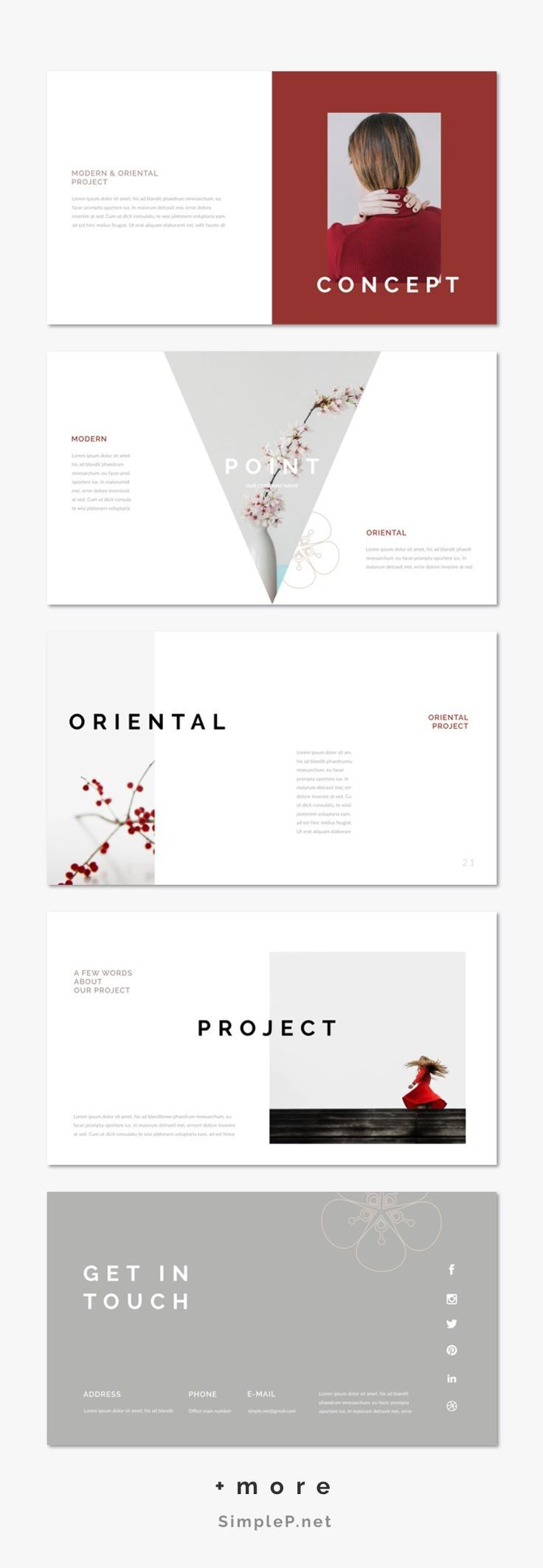 oriental powerpoint template レイアウト カタログデザイン
