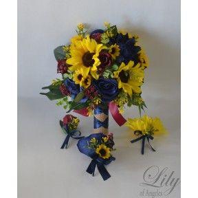 Yellow-Sunflower-mini Sunflower-periwinkle-royal blue-blue ...