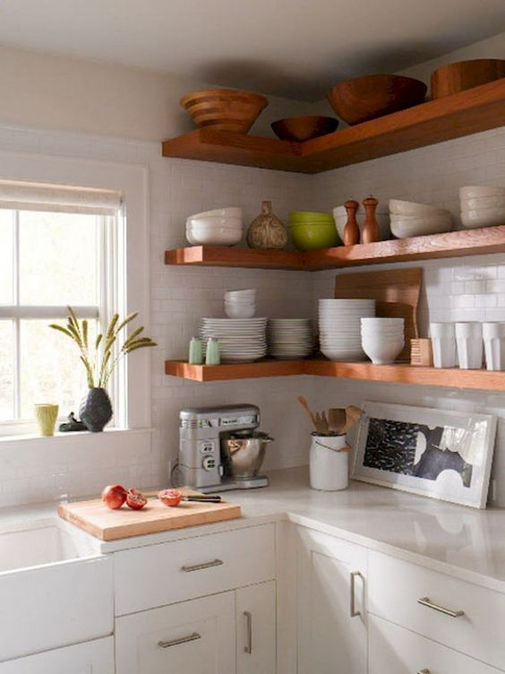 13 clever corner floating shelves kitchen wall cabinets kitchen remodel elegant kitchens on kitchen floating shelves id=86613