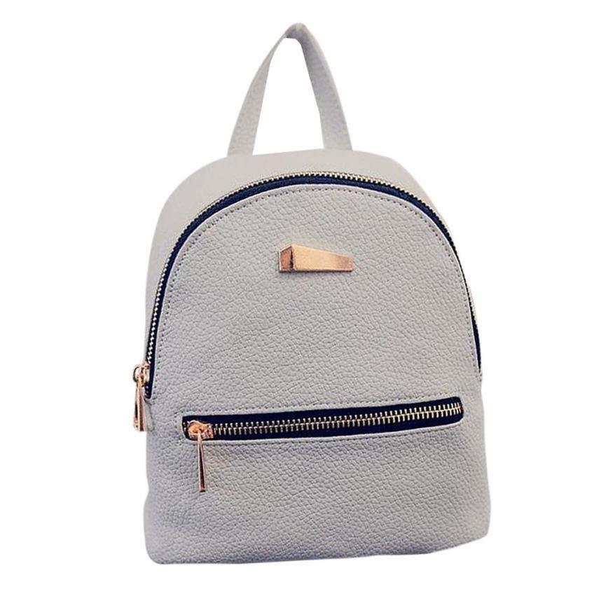 Xiniu Backpack Women Zipper Pocket Solid Color Backpacks For Teenage Girls Rucksack  Women Mochilas Femininas  2811 07f49bd90b
