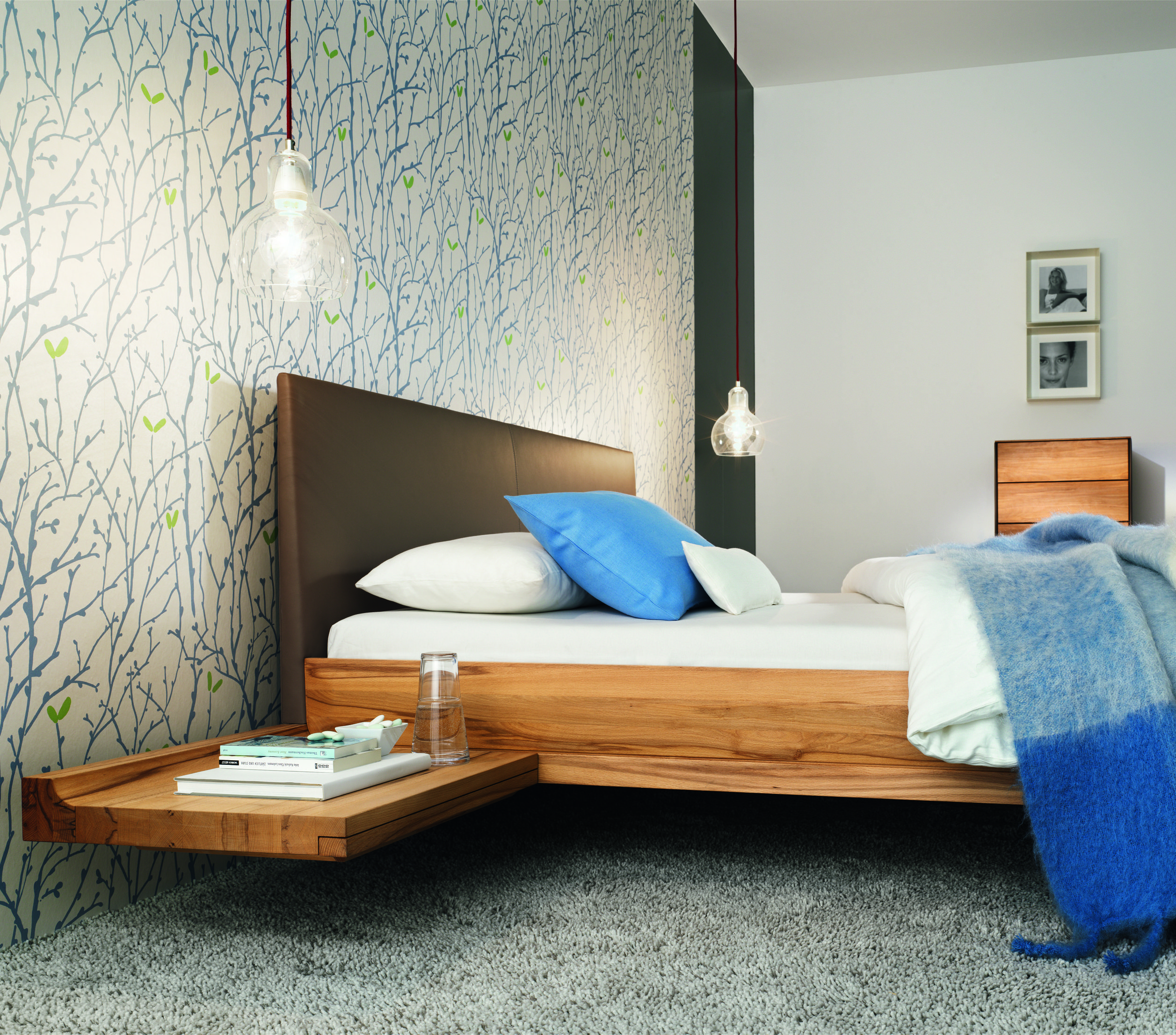 Non Toxic Bedroom Furniture Team 7 Riletto Bed Wood Headboard Leather Sides Wood Beds