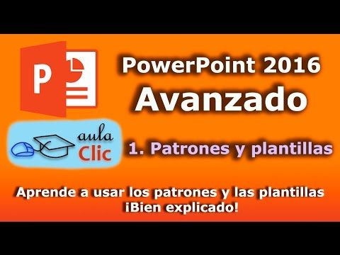 powerpoint 2016 avanzado muestras patrones y plantillas youtube