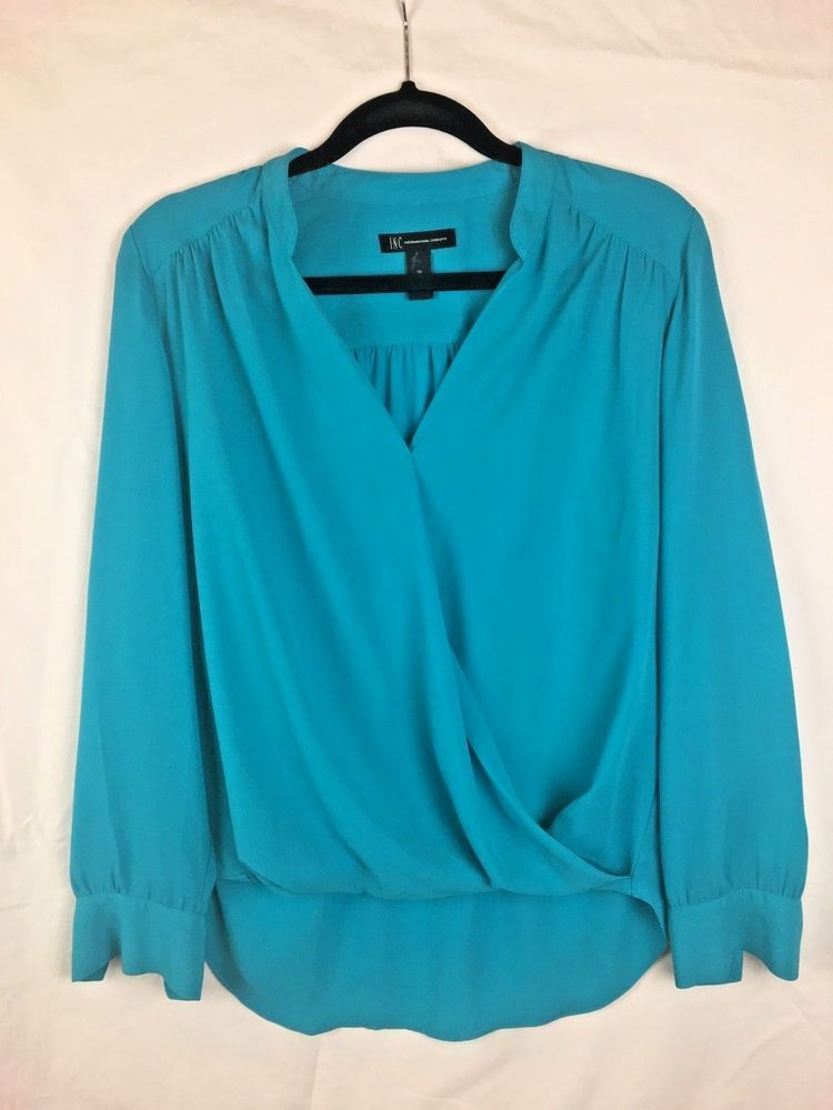 86e996e99f953b INC international concepts Womens long sleeve V-Neck Top Blouse size 10 WPL  8046 #fashion #clothing #shoes #accessories #womensclothing #tops (ebay  link)