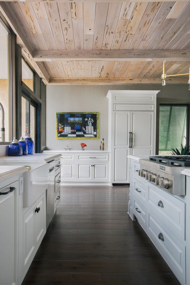 Pecky Cypress Ceiling With Limewash Finish By Artistic Finishes Of North Florida Photo Cristina Da Ceilings By Artistic Finishes Of North Florida In 2019 Ceiling Beautiful Kitchens Luxury Interior