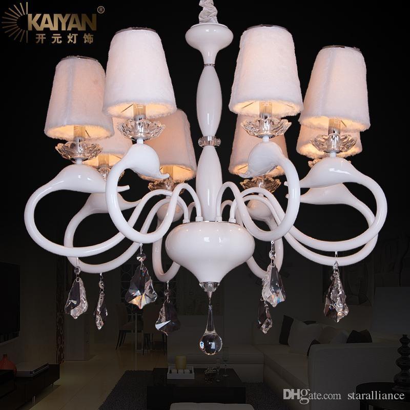 New Design Modernes Glas Schwan Leuchter Wei
