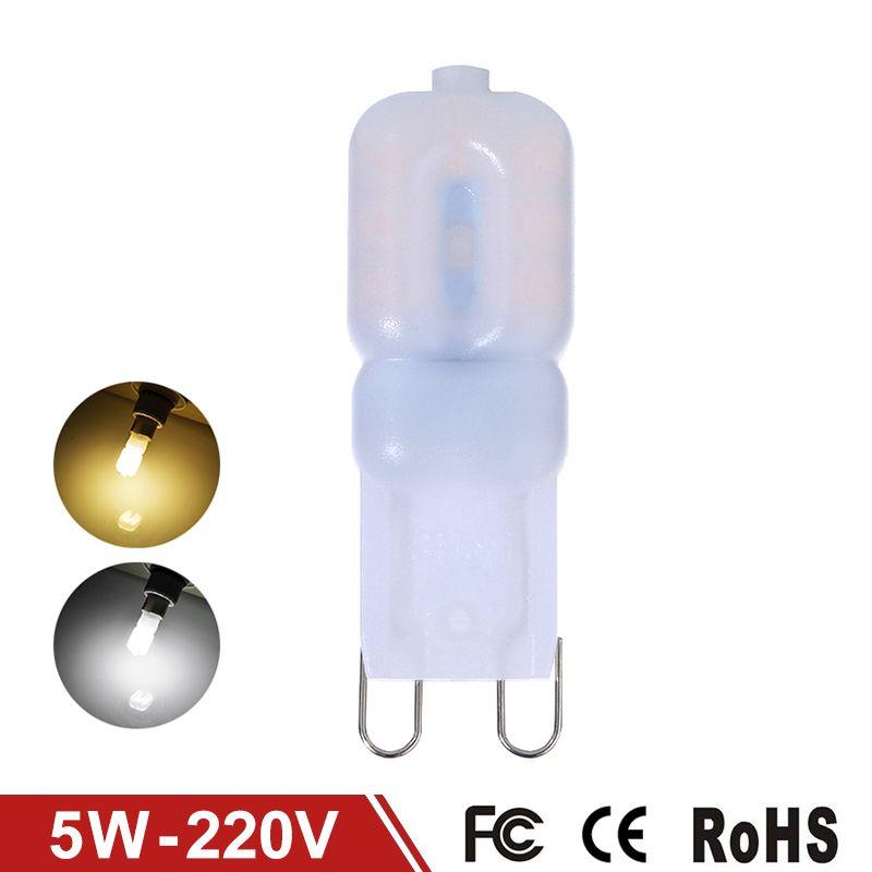 New G9 Led Lamp Corn Bulb Smd2835 5w Lampada Led G9 Light 220v 230v 240v Crystal Chandelier Lights Halogen Lamp Chandelier Lighting Crystal Chandelier Lighting