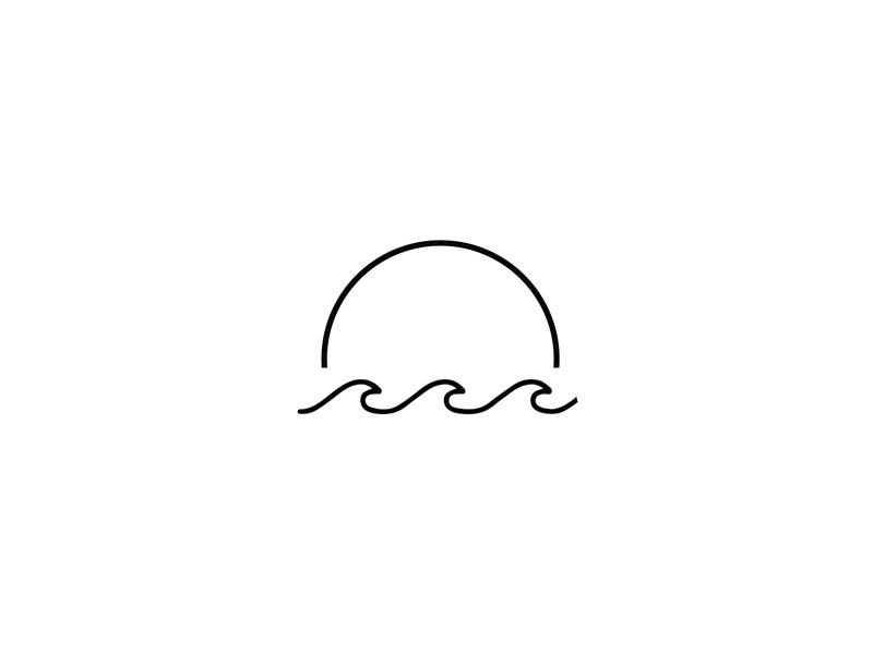 Brand Mark Black And White Instagram Outline Art Waves Tattoo