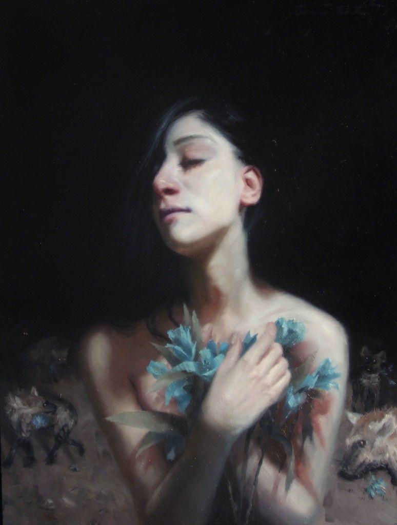 HENRIK AARRESTAD ULDALEN, Bloom, 2014, Oil, 15 3/4 × 11 3/4 in., 40 × 29.8 cm.