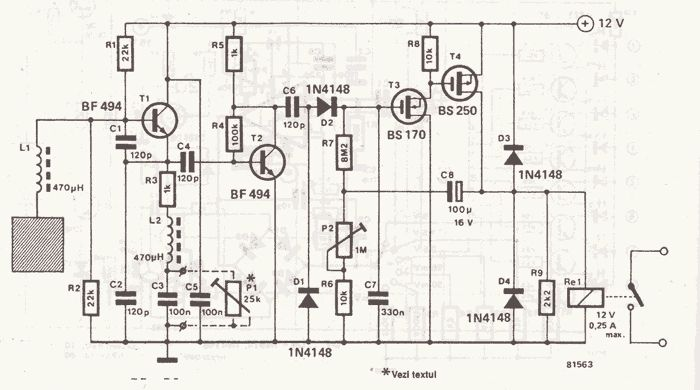 proximity sensor circuit schematic