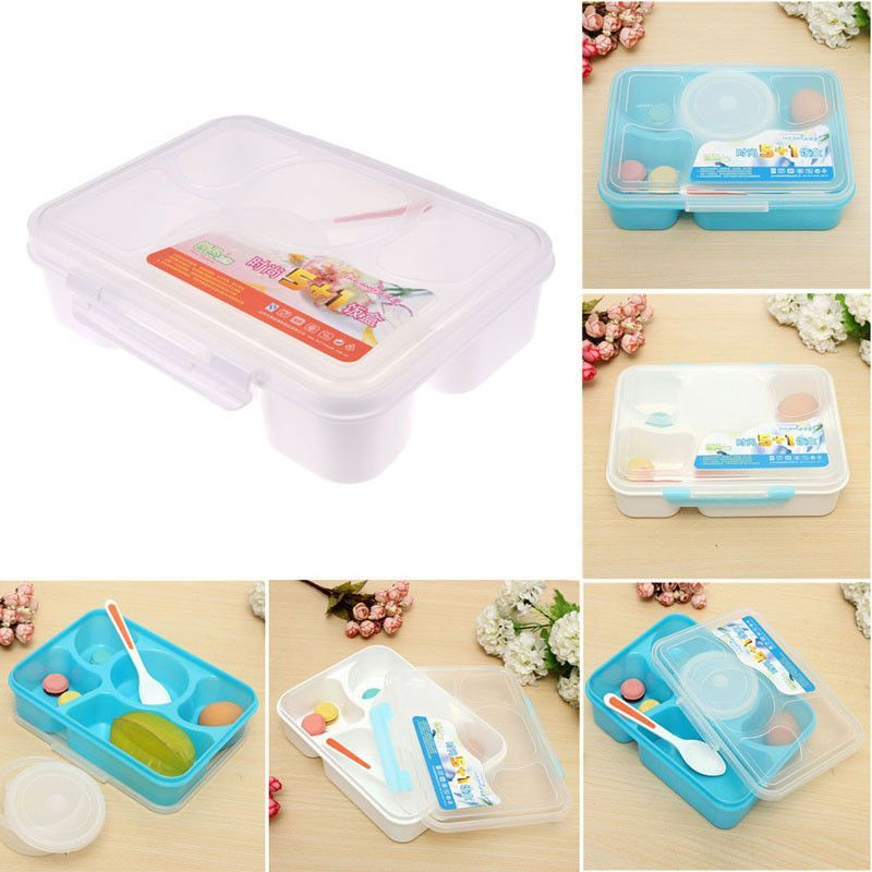 100 Brand New Portable Microwave Bento Lunch Box 5 1 Food Container Storage