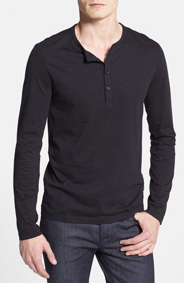 0317b455d BOSS HUGO BOSS 'Veneto' Slim Fit Long Sleeve Henley available at #Nordstrom