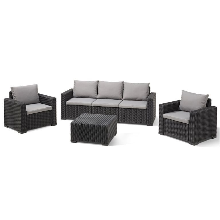 allibert california 3-zits loungeset | terrasse | terrasse