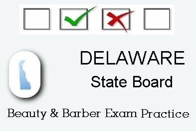 Delaware exam practice for state board in cosmetology barber delaware exam practice for state board in cosmetology barber esthetics and manicurist tests fandeluxe Image collections