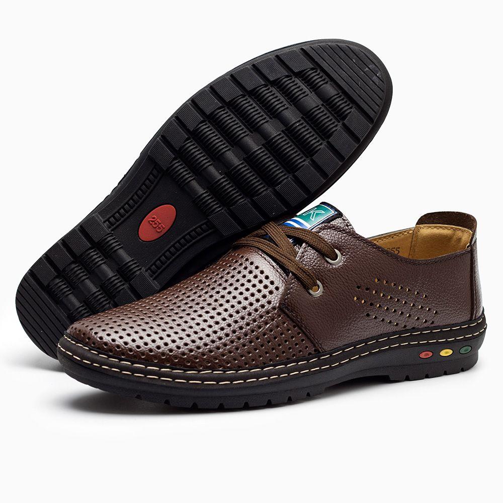 a217ac6d456d7 Aliexpress.com  Comprar Cuero auténtico hombres zapatos casual verano 2018  transpirable suave conducción hombres de superficie neta Mocasines de  loafers men ...
