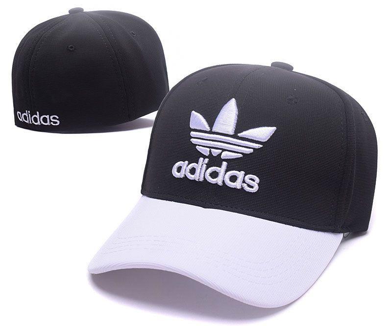 Men s   Women s Adidas The Originals Embroidery Logo Flexfit Hat - Black    White 0ecc603a80