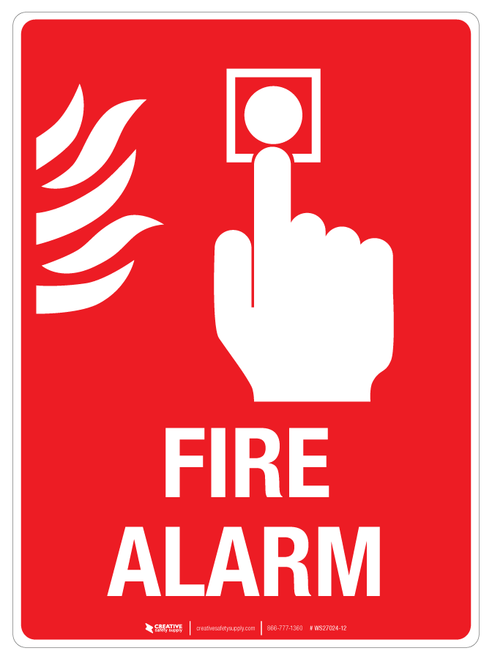 Fire Alarm Wall Sign Fire Alarm Emergency Fire Wall Signs