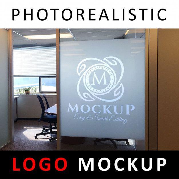 Logo Mock Up - Sandblasting Glass Office