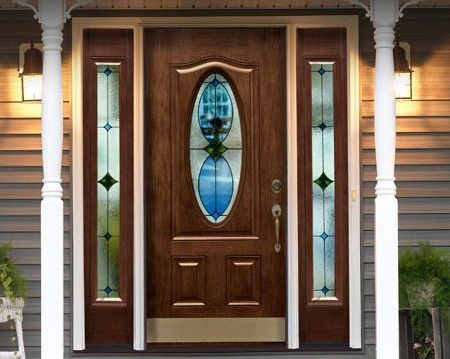 Front doors for homes with windows howe patio and for Energy efficient entry doors