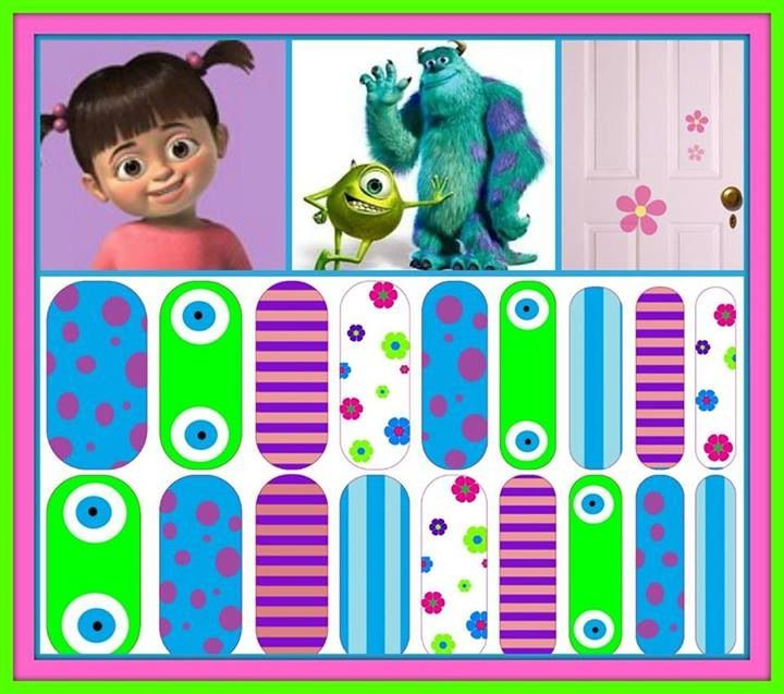 Monsters, Inc inspired nail wraps. Design your own in the ...