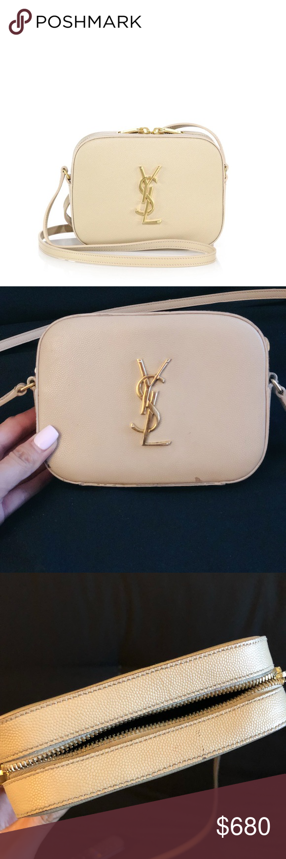 cc37cb44c26f35 AUTH YSL monogram camera crossbody Has some minor wear and tear (please  pictures) as it's been preloved! No trades. -$100 off through Vinted.