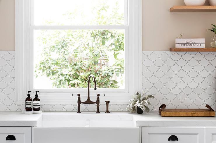 Cream kitchen walls accented with tabarka studio artisan