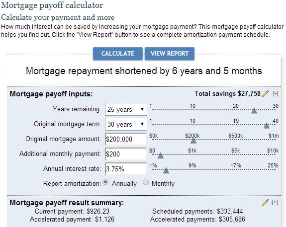 Mortgage Payoff Calculator Household Mortgage calculator