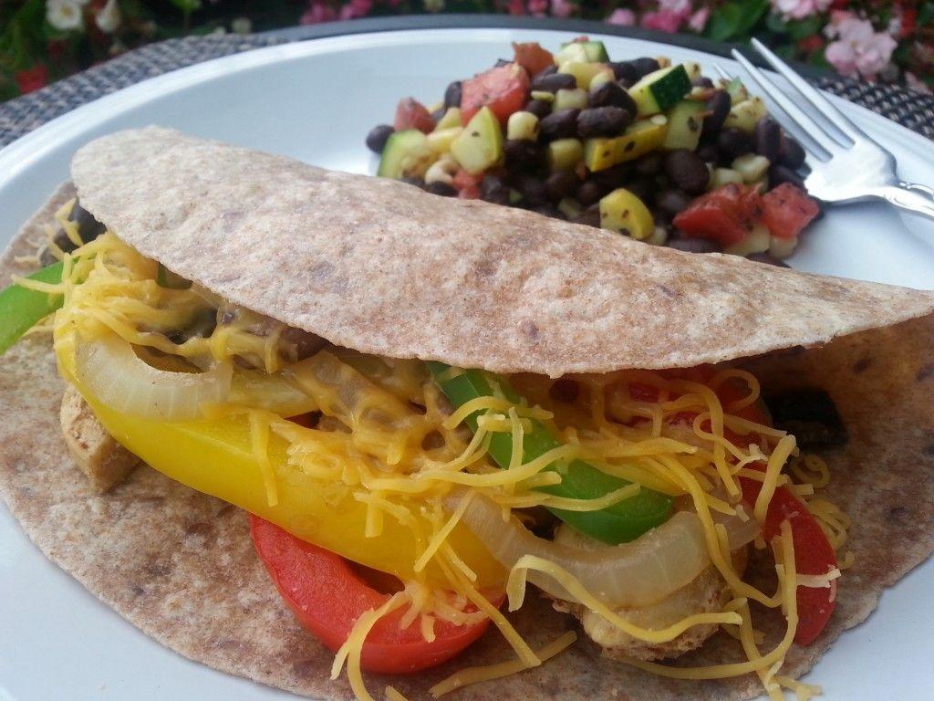 Whole Grain Chicken Fajitas with Zucchini, Corn, and Black Beans » Live Well Furman