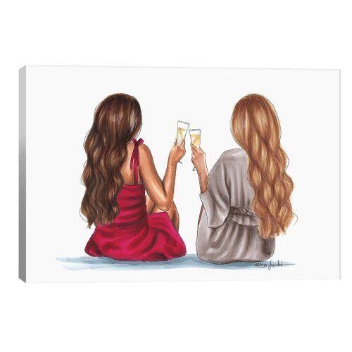 Photo of Leinwandbild Cheers von Elza Fouche Canora Grey Größe: 66 cm H x 101,6 cm B x 1,9 cm T