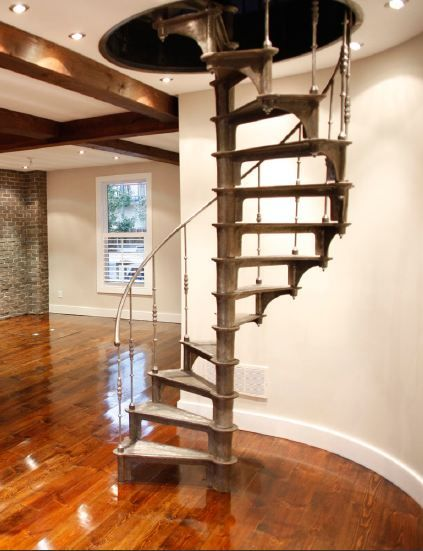 Escalier industriel colimacon en fonte (1880) Escalier inspiration - escalier interieur de villa