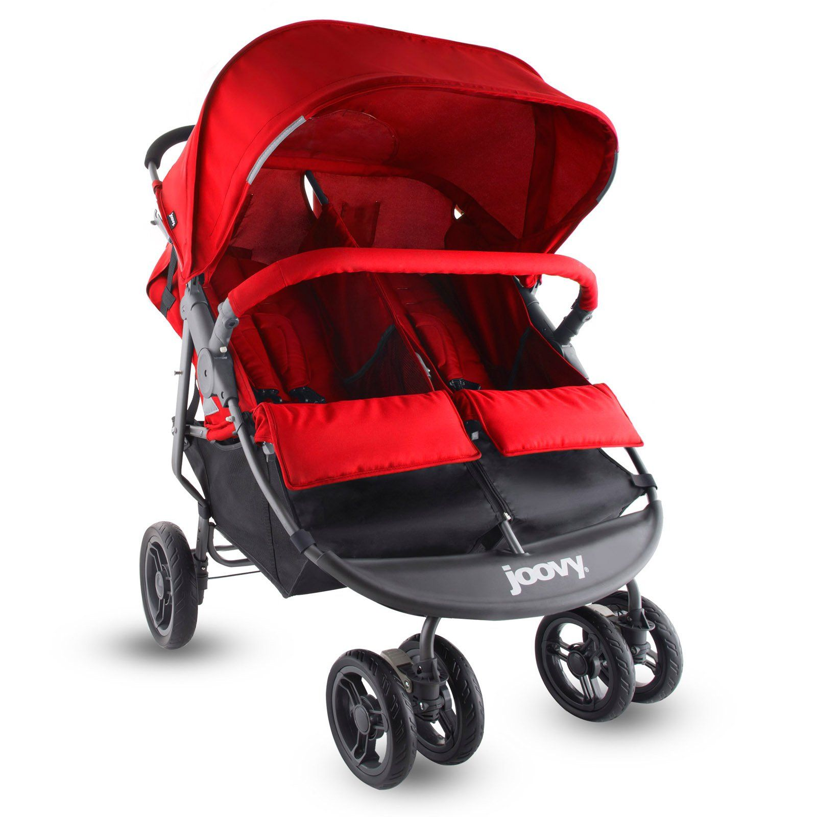 Joovy ScooterX2 Double Stroller Red Baby strollers