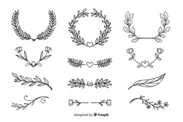 Download Hand Drawn Wedding Ornament Collection For Free How To Draw Hands Hand Drawn Wedding Hand Drawn Flowers