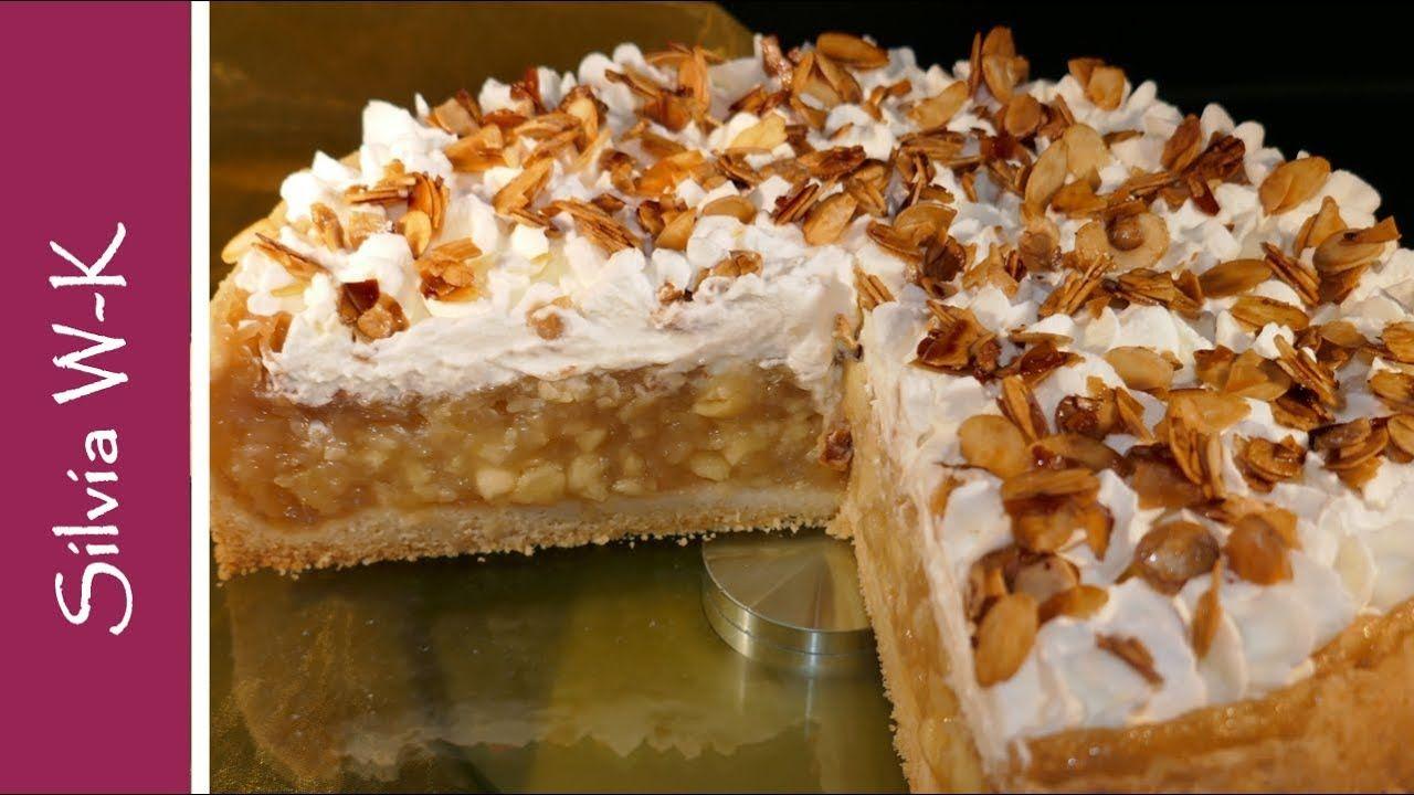 Apfelsahnetorte Apfeltorte Unwiderstehlich Mandel Sahne Haube Youtube Apfel Sahne Torte Kuchen Und Torten Rezepte Kuchen Und Torten