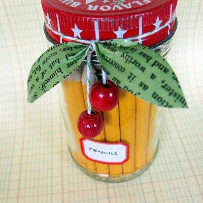 Make wooden beads into cherry decor.