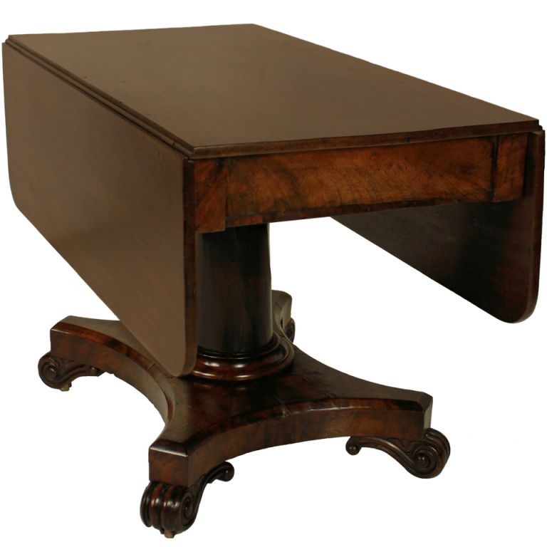 Good English William IV Drop Leaf Pedestal Table